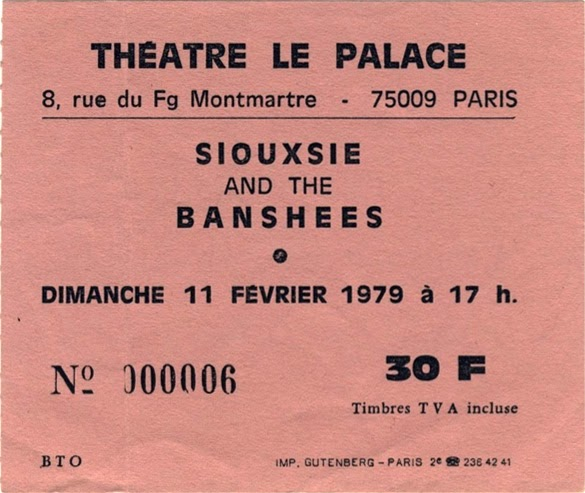Place de concert des Siouxsie and the Banshees - Radionorine